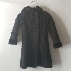 Girls Copper Key  full length black coat